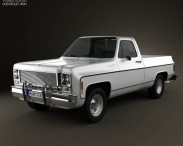 3D model of Chevrolet C/K Scottsdale Single Cab Standart Bed 1979
