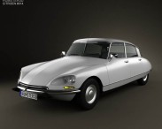 3D model of Citroen DS 4-door Sedan 1970