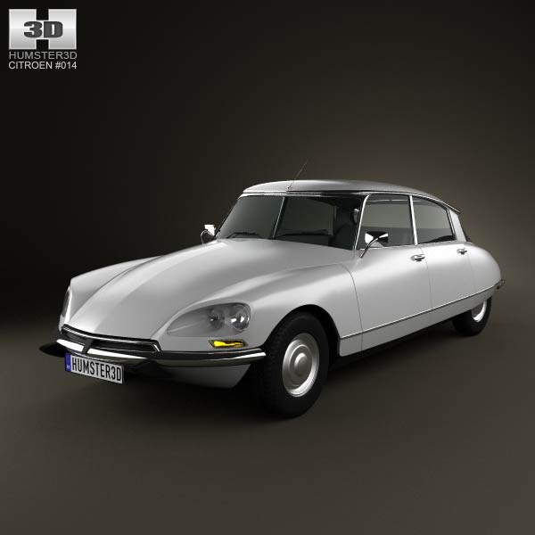 Citroen DS 4-door Sedan 1970 3d car model
