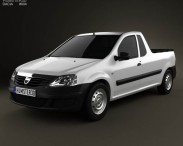 3D model of Dacia Logan Pickup 2011