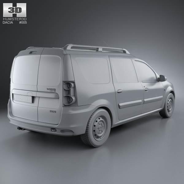 dacia logan van 2011 3d model humster3d. Black Bedroom Furniture Sets. Home Design Ideas