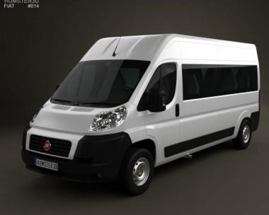 3D model of Fiat Ducato Minibus 2012