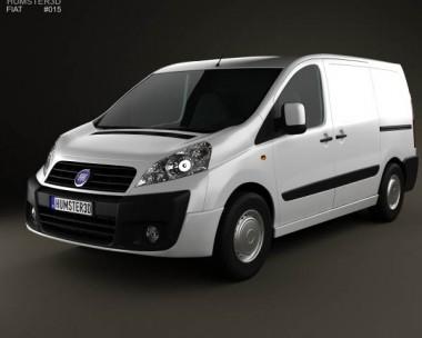 3D model of Fiat Scudo Furgon ShortWheelbase 4-door 2011
