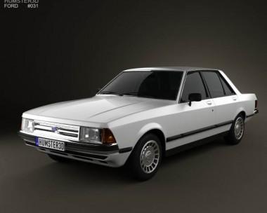3D model of Ford Granada Sedan 1982