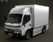 3D model of Hino 300 Standard Cab Box 2010