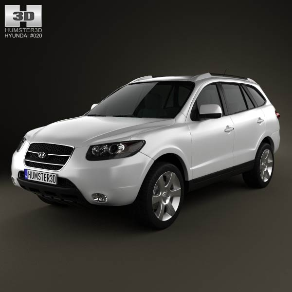 Hyundai Santa Fe 2007 3d car model