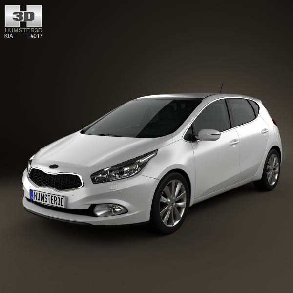 Kia Ceed hatchback 5-door 2013 3d car model
