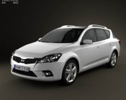 3D model of Kia Ceed SW with HQ Interior 2011