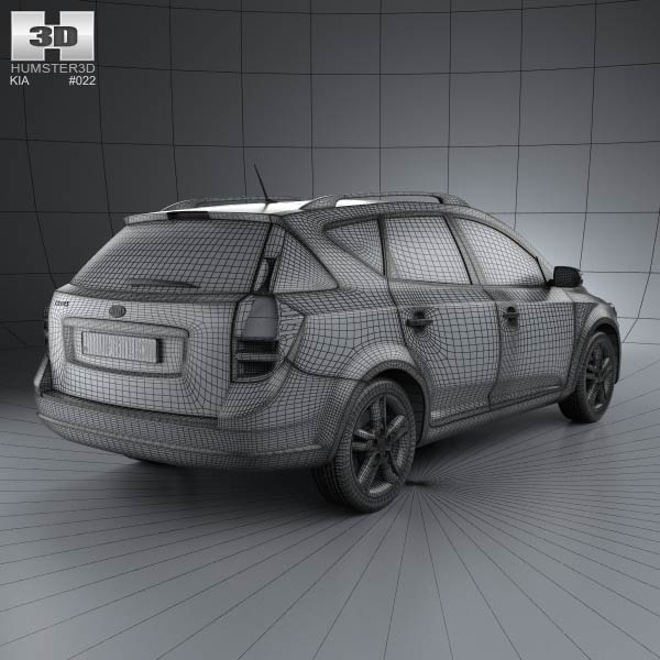 Kia Ceed Interior Dimensions >> Kia Ceed SW with HQ Interior 2011 3D model - Humster3D