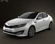 3D model of Kia Optima (K5) with HQ Interior 2011