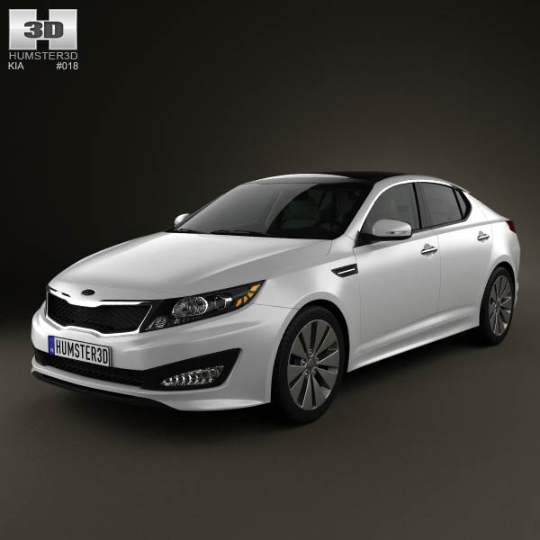 Kia Optima (K5) with HQ Interior 2011 3d car model