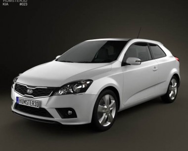 3D model of Kia Pro Ceed with HQ Interior 2011