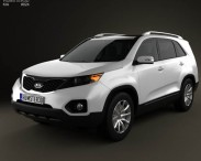 3D model of Kia Sorento with HQ Interior 2011