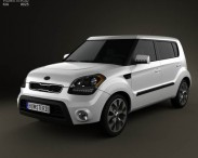 3D model of Kia Soul with HQ Interior 2012