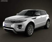 3D model of Range Rover Evoque 2012 5-door