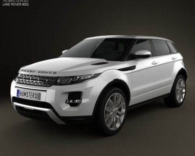 3D model of Range Rover Evoque 2012 5-door