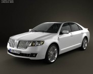 3D model of Lincoln MKZ 2012