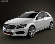 3D model of Mercedes-Benz A-class 2013