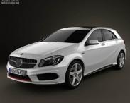 3D model of Mercedes-Benz A-class 2013