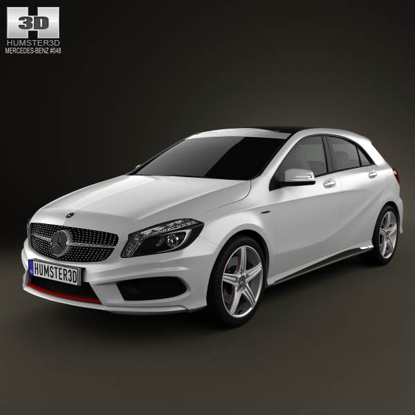 mercedes benz a class 2013 3d model humster3d. Black Bedroom Furniture Sets. Home Design Ideas