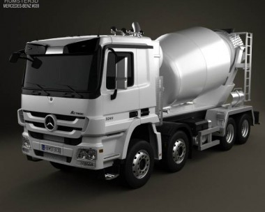 3D model of Mercedes-Benz Actros Mixer 2011