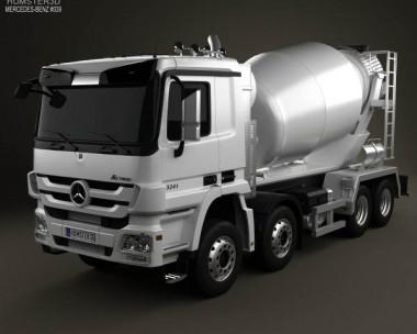 3D model of Mercedes-Benz Actros Mixer 2011