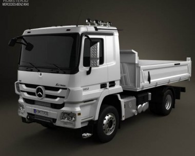 3D model of Mercedes-Benz Actros Tipper 2-axle 2011