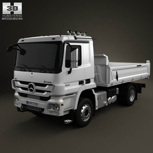 Mercedes-Benz Actros Tipper 2-axle 2011 3d car model