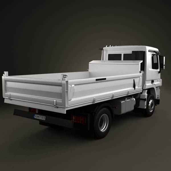 Mercedes-Benz Actros Tipper 2-axle 2011 3d model