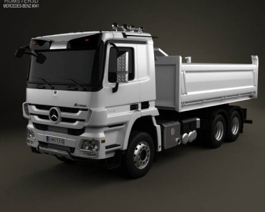 3D model of Mercedes-Benz Actros Tipper 3-axle 2011