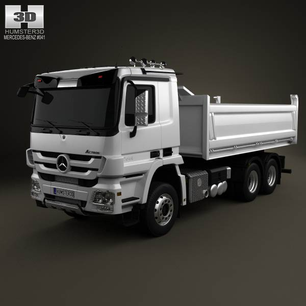 Mercedes-Benz Actros Tipper 3-axle 2011 3d car model