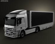 3D model of Mercedes-Benz Actros Tractor Trailer 2011