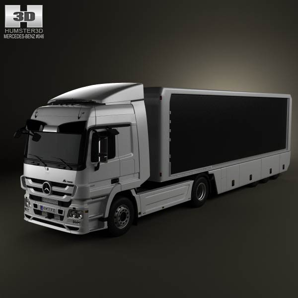 Mercedes-Benz Actros Tractor Trailer 2-axis 2011 3d car model