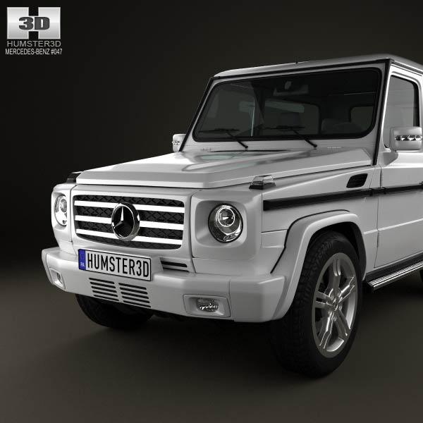 Mercedes benz g class 3 door 2011 3d model humster3d for 2011 mercedes benz g class