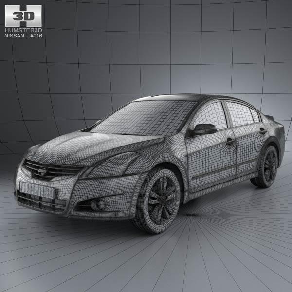 nissan altima 2012 3d model humster3d. Black Bedroom Furniture Sets. Home Design Ideas