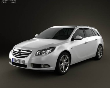 3D model of Opel Insignia Sports Tourer 2009