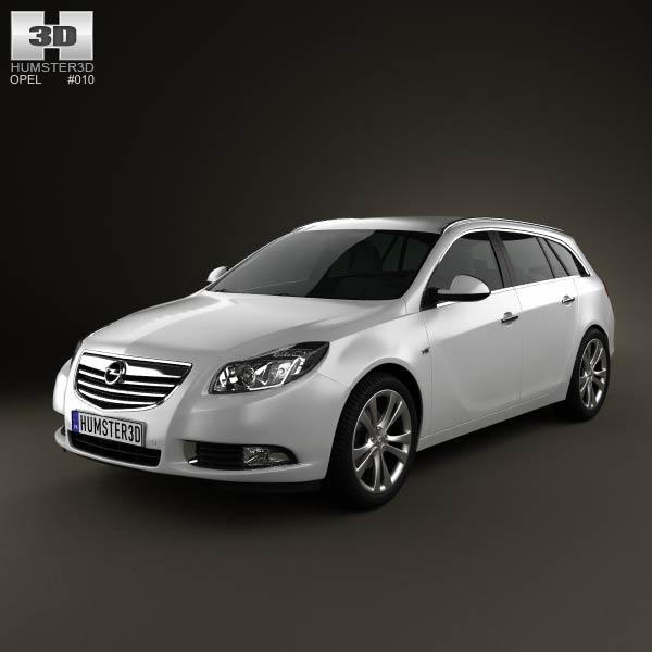 opel insignia sports tourer 2009 3d model humster3d. Black Bedroom Furniture Sets. Home Design Ideas