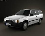3D model of Opel Kadett E Caravan 3-door 1984-1991