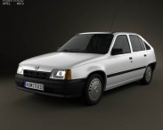 3D model of Opel Kadett E Hatchback 5-door 1984-1991
