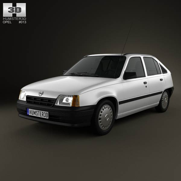 Opel Kadett E Hatchback 5-door 1984-1991 3d car model