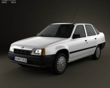 3D model of Opel Kadett E Sedan 1984-1991
