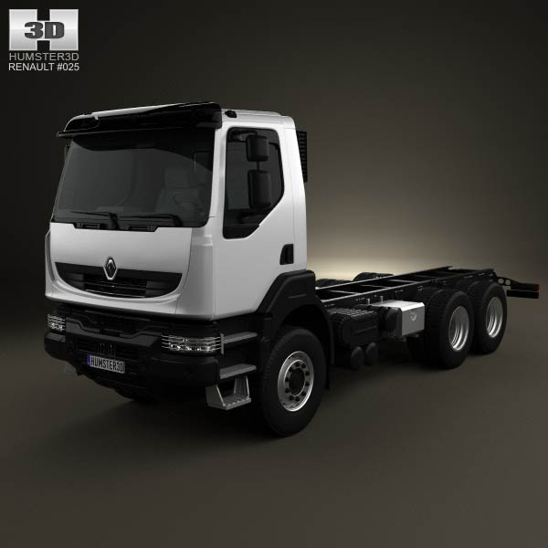 Renault Kerax Chassis 2011 3d car model