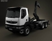 3D model of Renault Kerax Hook Loader 2011