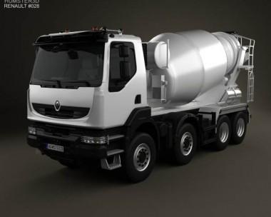 3D model of Renault Kerax Mixer 2011