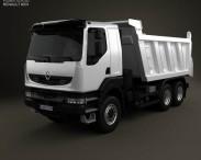 3D model of Renault Kerax Tiper 2011