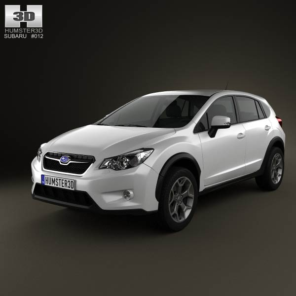 Subaru XV with HQ Interior 2012 3d car model
