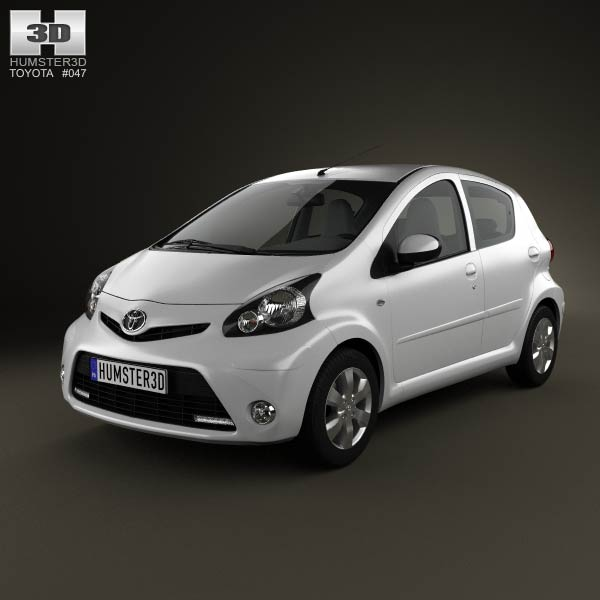 Toyota Aygo 5-door 2013 3d car model