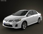 3D model of Toyota Corolla 2012
