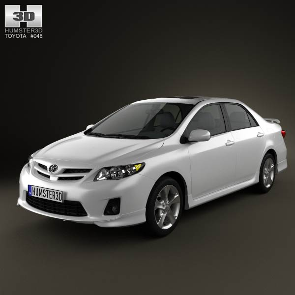 Toyota Corolla 2012 3d car model