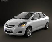 3D model of Toyota Yaris sedan (Vios, Belta) 2011